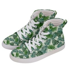 Leaves Tropical Wallpaper Foliage Women s Hi Top Skate Sneakers by Pakrebo