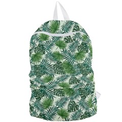 Leaves Tropical Wallpaper Foliage Foldable Lightweight Backpack
