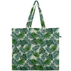 Leaves Tropical Wallpaper Foliage Canvas Travel Bag