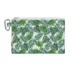 Leaves Tropical Wallpaper Foliage Canvas Cosmetic Bag (Large)