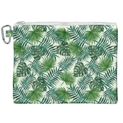 Leaves Tropical Wallpaper Foliage Canvas Cosmetic Bag (XXL)