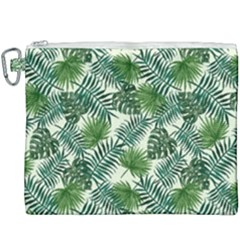 Leaves Tropical Wallpaper Foliage Canvas Cosmetic Bag (XXXL)