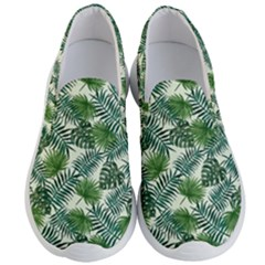Leaves Tropical Wallpaper Foliage Men s Lightweight Slip Ons