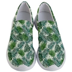 Leaves Tropical Wallpaper Foliage Women s Lightweight Slip Ons