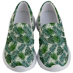 Leaves Tropical Wallpaper Foliage Kids  Lightweight Slip Ons