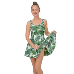 Leaves Tropical Wallpaper Foliage Inside Out Casual Dress