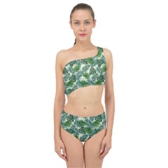 Leaves Tropical Wallpaper Foliage Spliced Up Two Piece Swimsuit