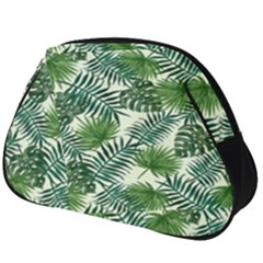 Leaves Tropical Wallpaper Foliage Full Print Accessory Pouch (Big)
