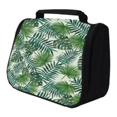 Leaves Tropical Wallpaper Foliage Full Print Travel Pouch (Small)