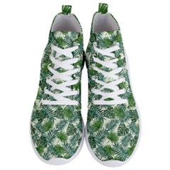 Leaves Tropical Wallpaper Foliage Men s Lightweight High Top Sneakers by Pakrebo