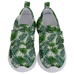 Leaves Tropical Wallpaper Foliage Kids  Velcro No Lace Shoes