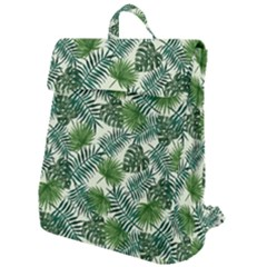 Leaves Tropical Wallpaper Foliage Flap Top Backpack