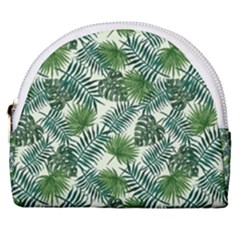 Leaves Tropical Wallpaper Foliage Horseshoe Style Canvas Pouch