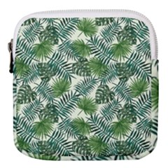 Leaves Tropical Wallpaper Foliage Mini Square Pouch