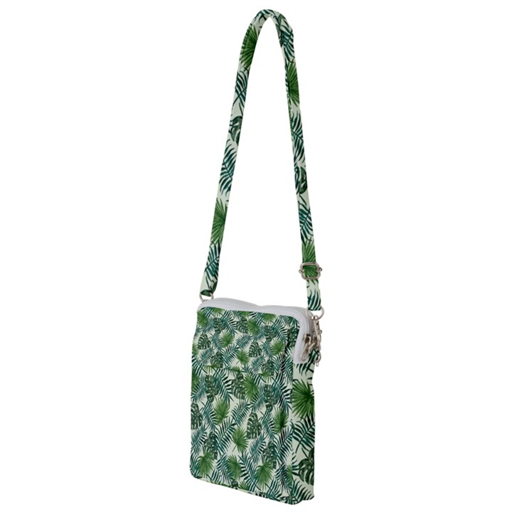 Leaves Tropical Wallpaper Foliage Multi Function Travel Bag