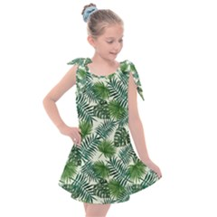 Leaves Tropical Wallpaper Foliage Kids  Tie Up Tunic Dress