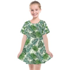 Leaves Tropical Wallpaper Foliage Kids  Smock Dress