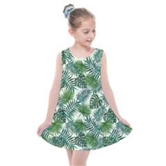 Leaves Tropical Wallpaper Foliage Kids  Summer Dress