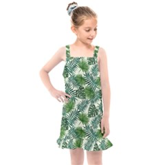 Leaves Tropical Wallpaper Foliage Kids  Overall Dress