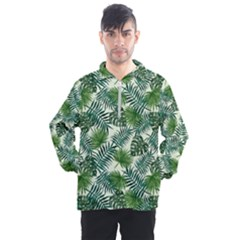 Leaves Tropical Wallpaper Foliage Men s Half Zip Pullover