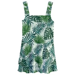 Leaves Tropical Wallpaper Foliage Kids  Layered Skirt Swimsuit