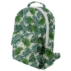 Leaves Tropical Wallpaper Foliage Flap Pocket Backpack (Small)
