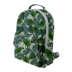 Leaves Tropical Wallpaper Foliage Flap Pocket Backpack (Large)