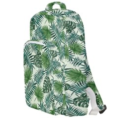 Leaves Tropical Wallpaper Foliage Double Compartment Backpack