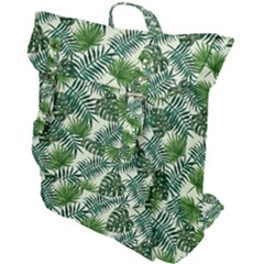 Leaves Tropical Wallpaper Foliage Buckle Up Backpack