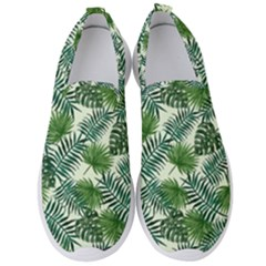 Leaves Tropical Wallpaper Foliage Men s Slip On Sneakers