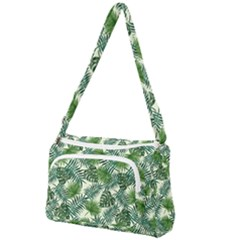 Leaves Tropical Wallpaper Foliage Front Pocket Crossbody Bag