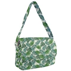 Leaves Tropical Wallpaper Foliage Courier Bag by Pakrebo