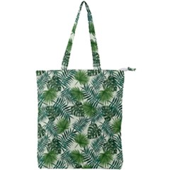 Leaves Tropical Wallpaper Foliage Double Zip Up Tote Bag