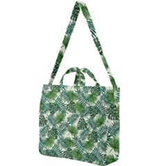 Leaves Tropical Wallpaper Foliage Square Shoulder Tote Bag