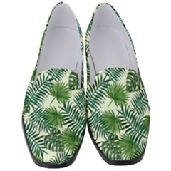 Leaves Tropical Wallpaper Foliage Women s Classic Loafer Heels by Pakrebo