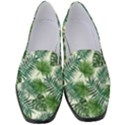 Leaves Tropical Wallpaper Foliage Women s Classic Loafer Heels View1