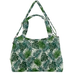 Leaves Tropical Wallpaper Foliage Double Compartment Shoulder Bag by Pakrebo