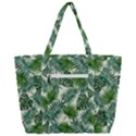Leaves Tropical Wallpaper Foliage Zip Up Canvas Bag View3