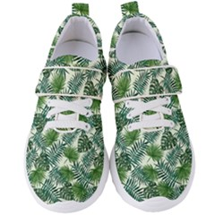 Leaves Tropical Wallpaper Foliage Women s Velcro Strap Shoes