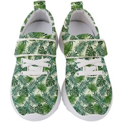 Leaves Tropical Wallpaper Foliage Kids  Velcro Strap Shoes