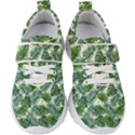 Leaves Tropical Wallpaper Foliage Kids  Velcro Strap Shoes View1