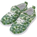 Leaves Tropical Wallpaper Foliage Kids  Velcro Strap Shoes View2
