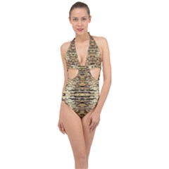 Ml C 4 9 Halter Front Plunge Swimsuit