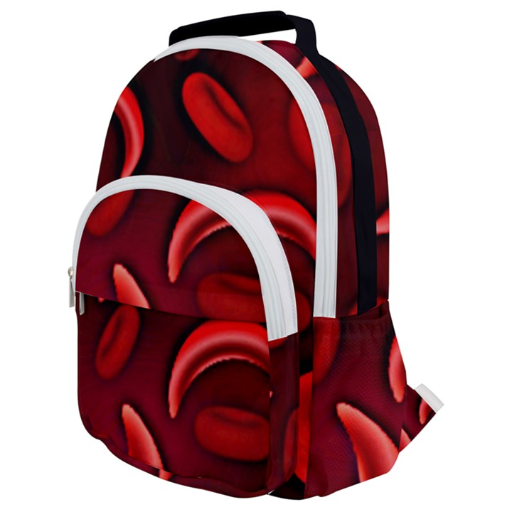 Cells All Over  Rounded Multi Pocket Backpack