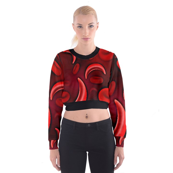 Cells All Over  Cropped Sweatshirt