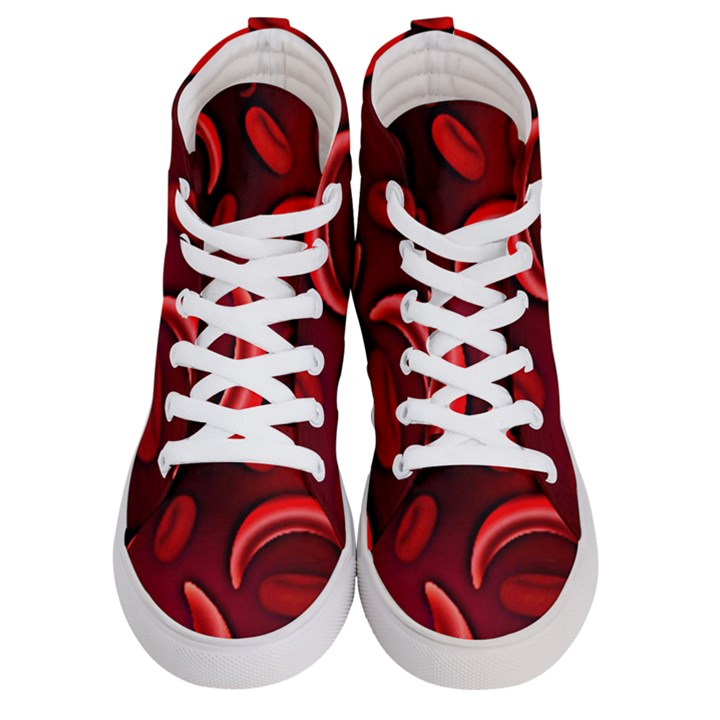 Cells All Over  Women s Hi-Top Skate Sneakers