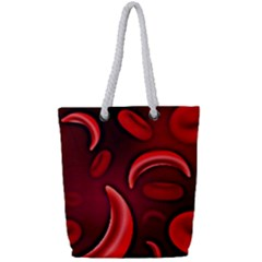 Cells All Over  Full Print Rope Handle Tote (small) by shawnstestimony