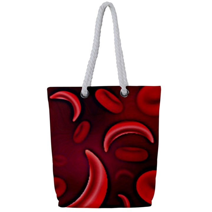 Cells All Over  Full Print Rope Handle Tote (Small)
