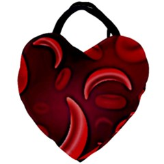 Cells All Over  Giant Heart Shaped Tote by shawnstestimony