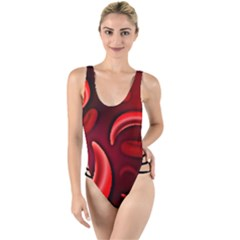 Cells All Over  High Leg Strappy Swimsuit by shawnstestimony